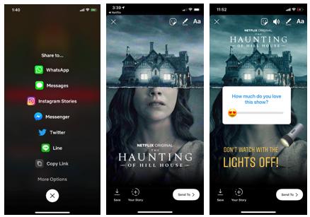 Usuarios de iPhone podrán compartir momentos de Netflix en Instagram