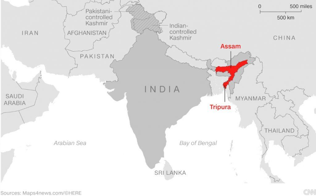 India despliega el ejército en Assam ante las violentas protestas
