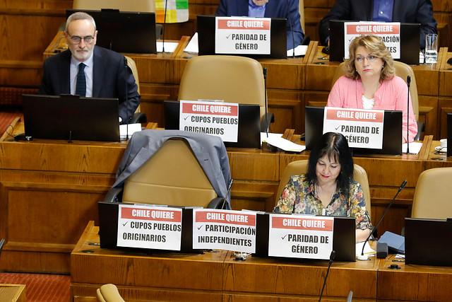 Senado rechaza informe sobre paridad de género para el proceso constituyente