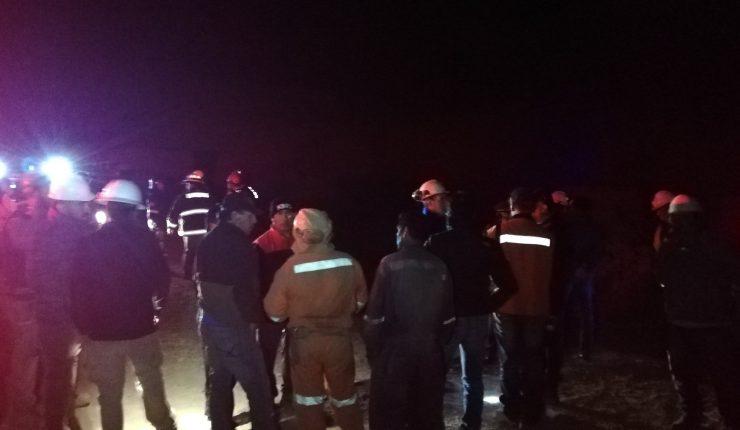 Derrumbe en mina de Tocopilla mantiene a tres personas atrapadas