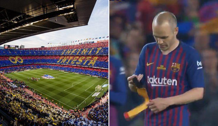 """Barcelona despidió a Iniesta  """"Infinito"""" e54e64d858adb"""