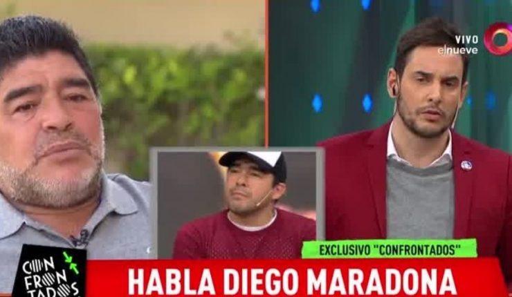 Maradona llamó drogadicto a su sobrino en programa de TV