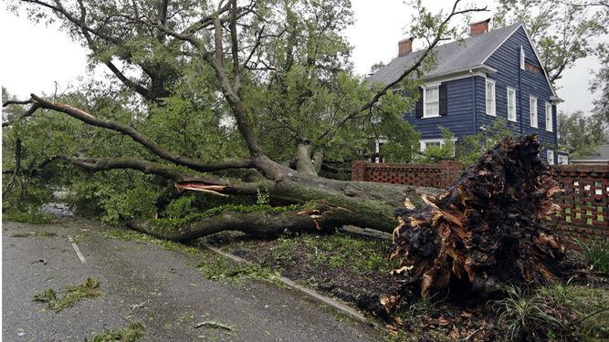 Rescatan a decenas de personas en Las Carolinas por Florence
