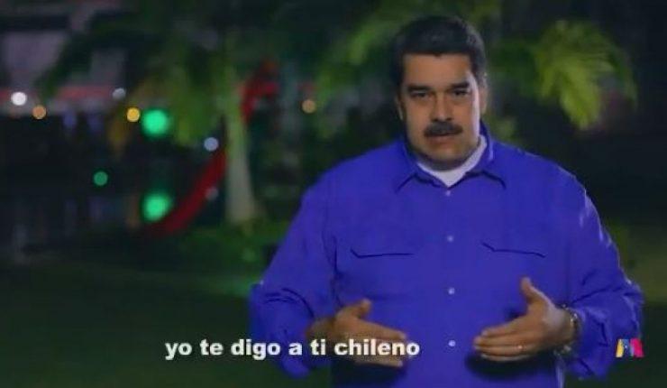 Nicolás Maduro envía mensaje al pueblo de Chile