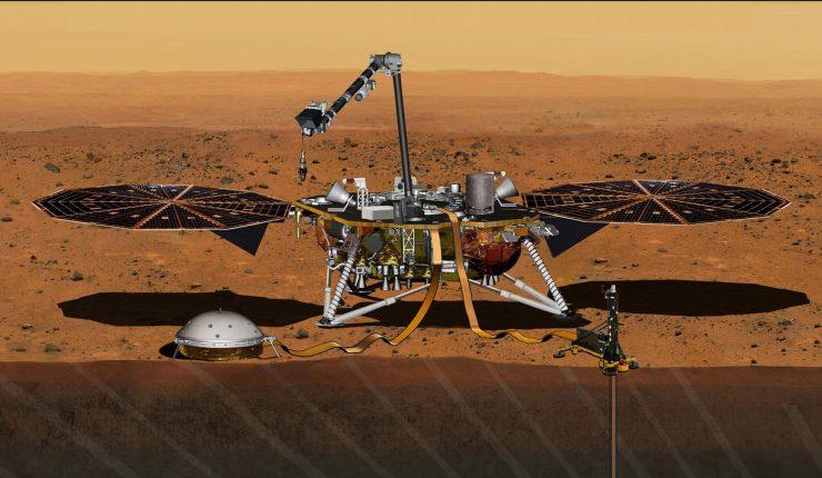 InSight envía sus primeras imágenes a la Tierra