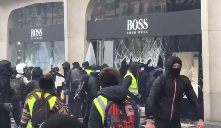 Marcha de chalecos amarrillos: entre saqueos e incidentes detuvieron a 121 manifestantes